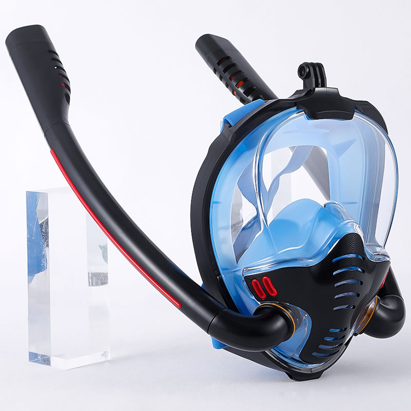 6 colors scuba diving equipment underwater anti fog diving mask full face snorkeling mask for swimming spearfishing dive Professional Scuba Diving Mask Underwater Anti Fog Diving Equipment Mask Full Face Snorkeling Mask For Adult Child Swimming Mask
