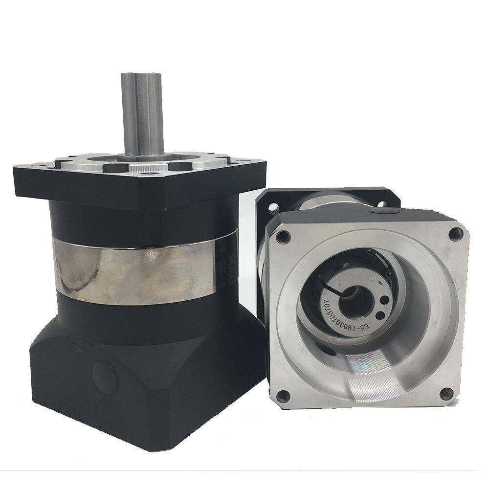 25:1 سرعة نسبة 120 مللي متر مقلل سرعة التروس 22 مللي متر المدخلات علبة التروس المخفض ل NEMA52 130 مللي متر محرك معزز CNC عالية الدقة