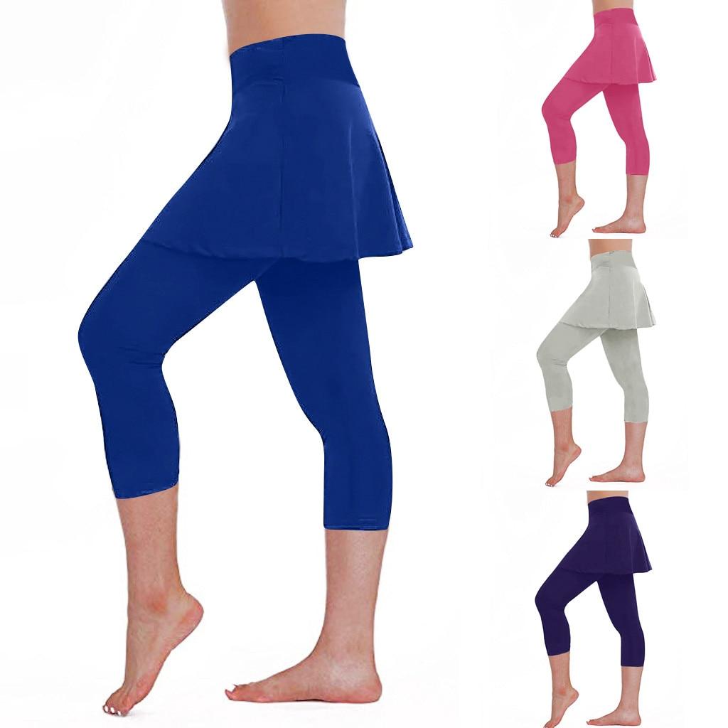 Push Up Women Leggings  Casual Skirt Leggings Tennis Pants Sports Fitness Cropped Culottes