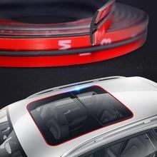 Autocollants caoutchouc pour fenêtre de style de voiture   14mm/19mm, autocollant de pare-brise avant arrière de voiture, toit solaire, fenêtre triangulaire, bandes scellées, garniture de joint
