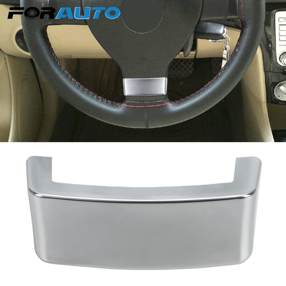 Embellecedor para volante de coche, cubierta de lentejuelas con emblema cromado, cubierta de ajuste para VW Golf MK5 Plus 5 GTI Passat B6 3C Eos Jetta