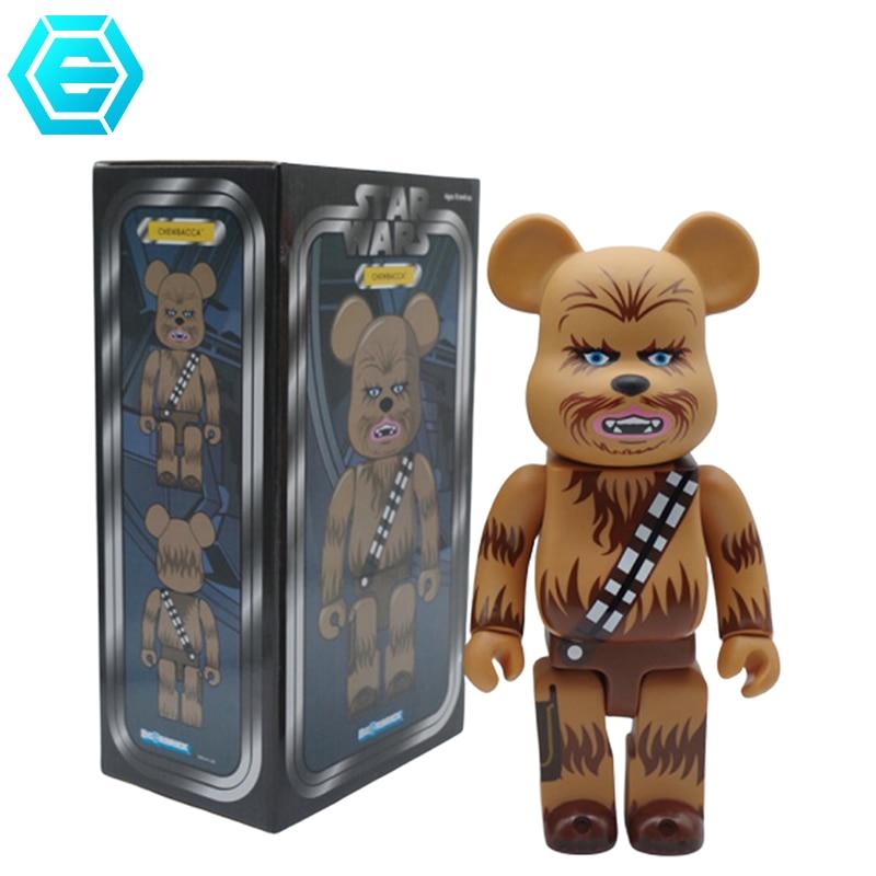 2020 bonecas populares bearbricklys 400% modelos colecionáveis 28cm blocos ursos figuras de ação pvc homem ferro sésamo rua família presentes