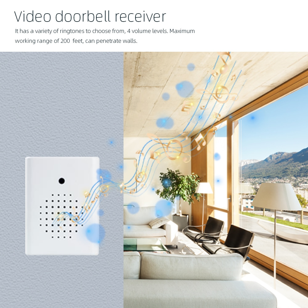 Tuya 1080P FHD Smart WiFi Video Doorbell Camera Alexa Google IP65 Outdoor 4400mAh Rechargeable Battery Built-In with USB Chime enlarge