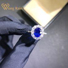 Wong chuva luxo 100% 925 prata esterlina criado moissanite safira pedra preciosa casamento anel de noivado jóias finas por atacado