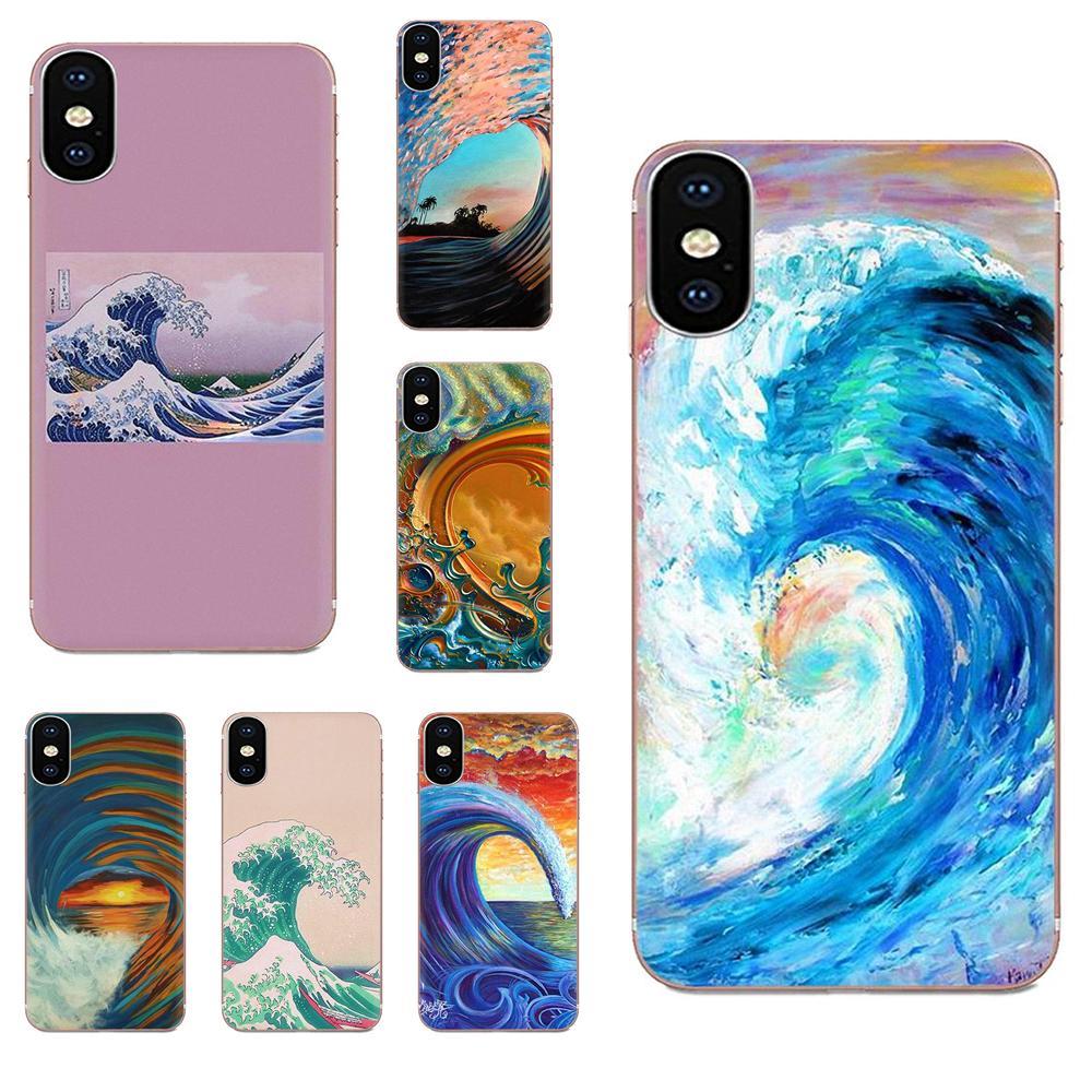 For LG G2 G3 G4 G5 G6 G7 K4 K7 K8 K10 K12 K40 Mini Plus Stylus ThinQ 2016 2017 2018 Soft TPU Covers Wave Art