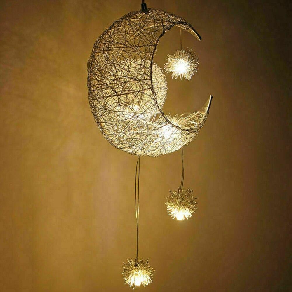 قلادة LED ضوء القمر ستار الحديثة AC85-265V مصباح ثريا سقف غرفة نوم معلقة ضوء ديكور عيد الميلاد الديكور للمنزل