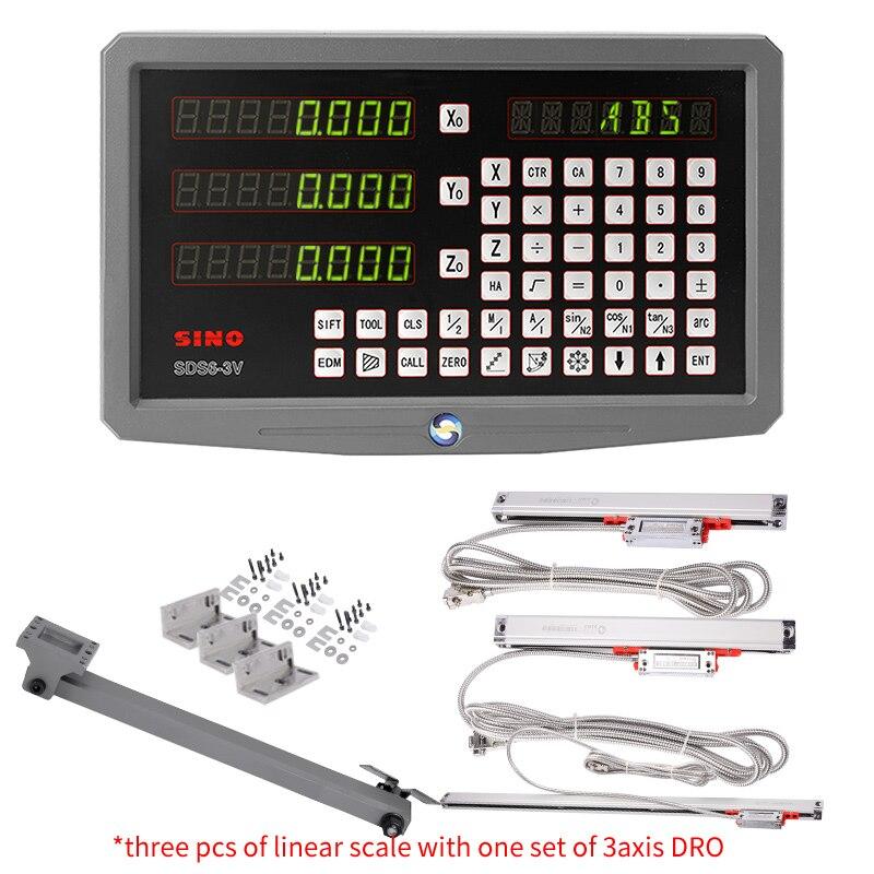 جديد الأصلي الصيني SDS6-3V 3 محور قراءات رقمية DRO عدة و 3 قطع الصيني KA300 الخطي مقياس الخطي التشفير حاكم