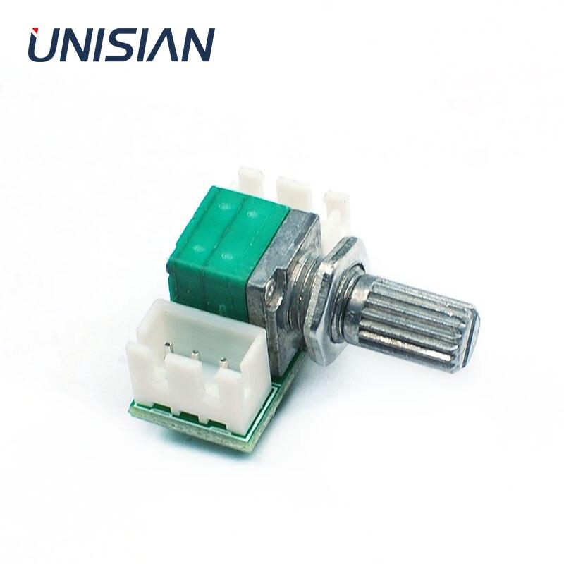 Unisina placa de controle de áudio com tipo r09 potenciômetro som volume adjustor única entrada para saída módulo adaptador para amplfier