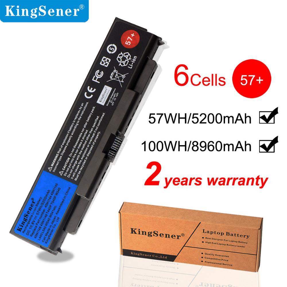 KingSener T440P T540P batería del ordenador portátil para Lenovo ThinkPad L440 L540 W540 W541 45N1145 45N1144 45N1148 45N1158 45N1159 57 + 5.2Ah
