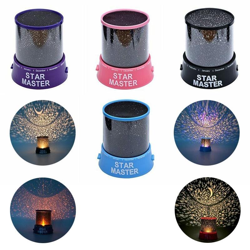 LED לילה אור הקרנת שמי זרועי הכוכבים רומנטי צבעוני LED הקרנת מנורת ילדים חדר לילה אור שינה קישוט מתנה