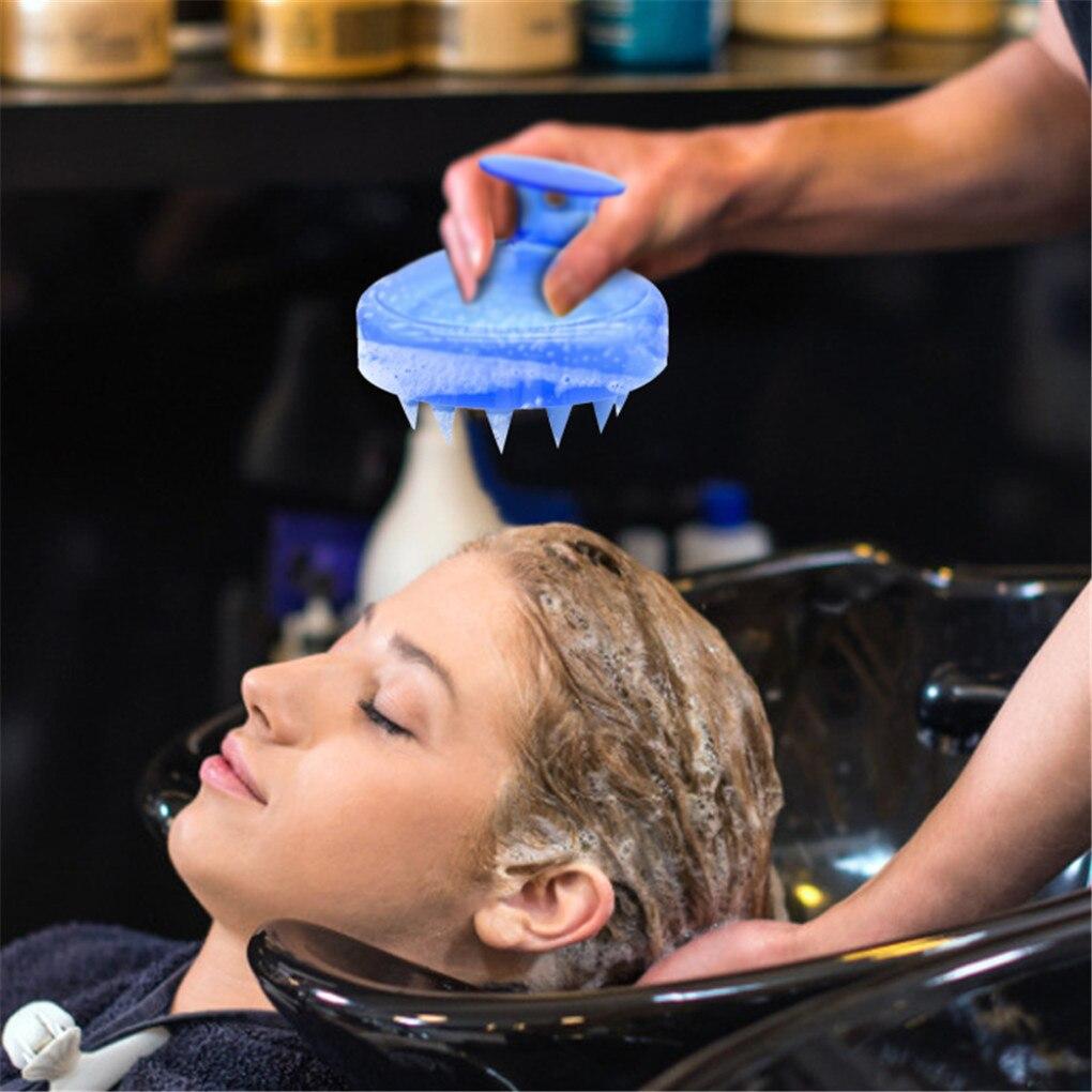 Hair Washing Comb Soft Silicone Head Body Scalp Massage Brush Shampoo Shower Hairbrush Bath Spa Slim