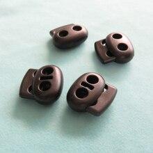 Bouchon en plastique noir 4mm 5mm 1200 pièces   Double trou, verrouillage cordon, cordon de serrage, Clip à bascule vêtement lacet bouton de ressort, accessoire