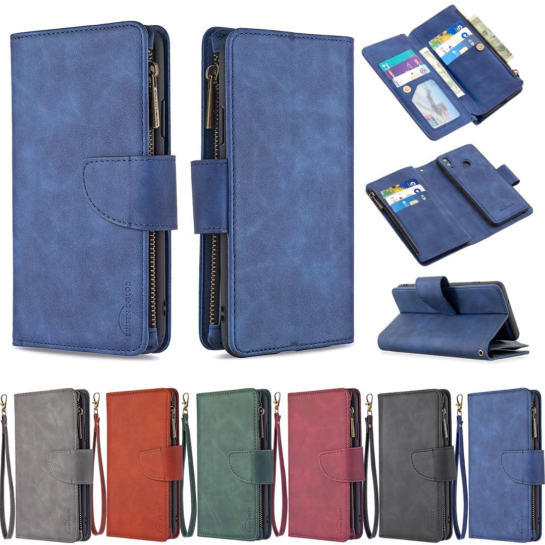 Lederen Y5P Y6P Y7P Wallet Case Voor Huawei P40 P30 Pro Lite E Psmart Z 2020 Y5 Y6 Y7 Y9 prime 2019 Honor 9A 9X 9S 8A Telefoon Cover