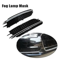 car front bumper fog lamp frame grille cover rs6 style for a6 c7 sedan 2012 2013 2014 2015