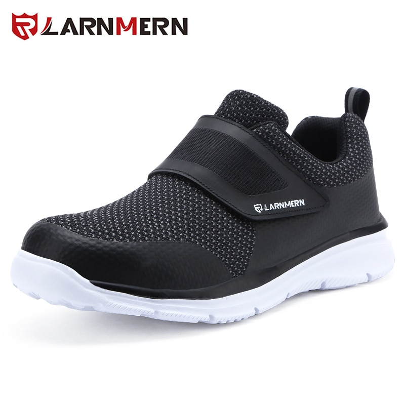 LARNMERN Mens Steel Toe Safety Work Shoes For Men Lightweight Breathable Anti-smashing Anti-puncture Non-slip Protective Shoes