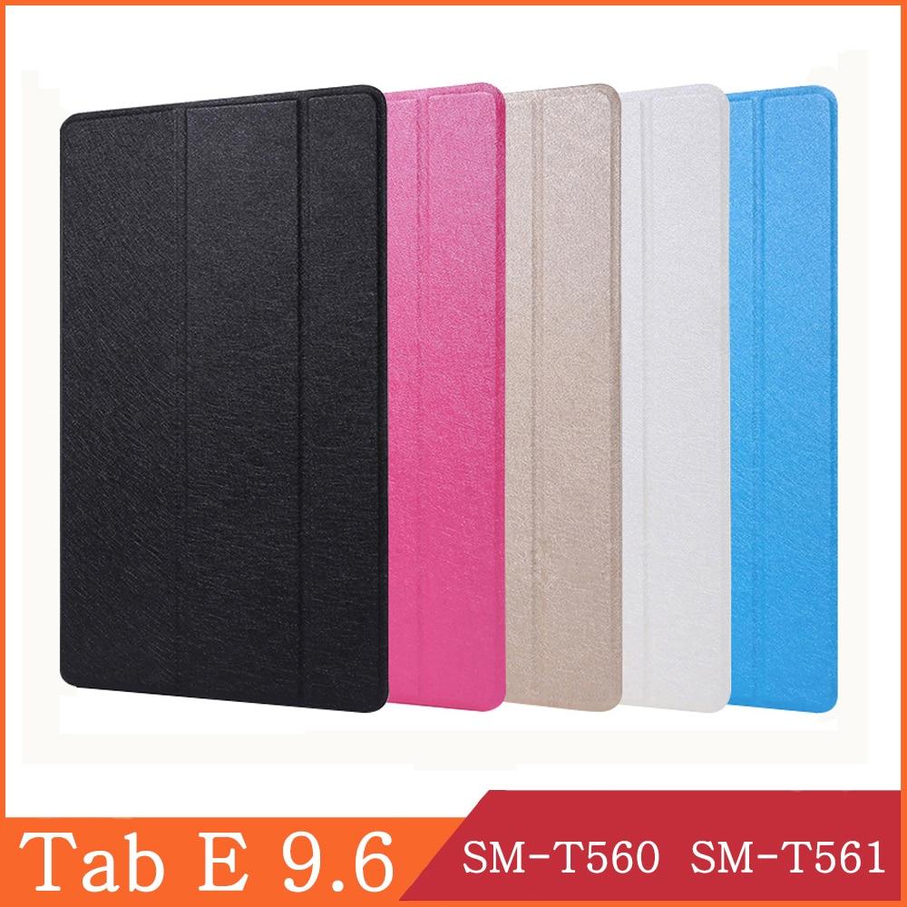 Funda Samsung Galaxy Tab E 9,6 de 2015 SM-T560 SM-T561 T560 T561 Wi-Fi 3G LTE Smart Cover magnético caso Flip Stand Coque