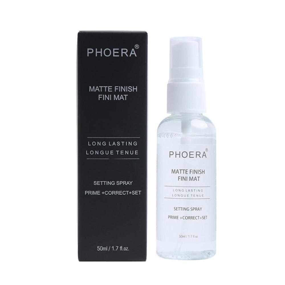 Hidratante duradera cara Fundación maquillaje Spray de fijación fijador acabado mate Spray de fijación de Primer Spray
