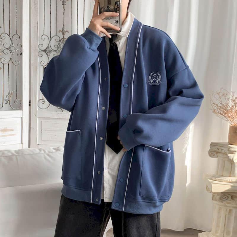 Baseball uniform sport jacke männer Koreanische trend frühling herbst kleidung lose hübsche college stil mantel preppy streetwear top