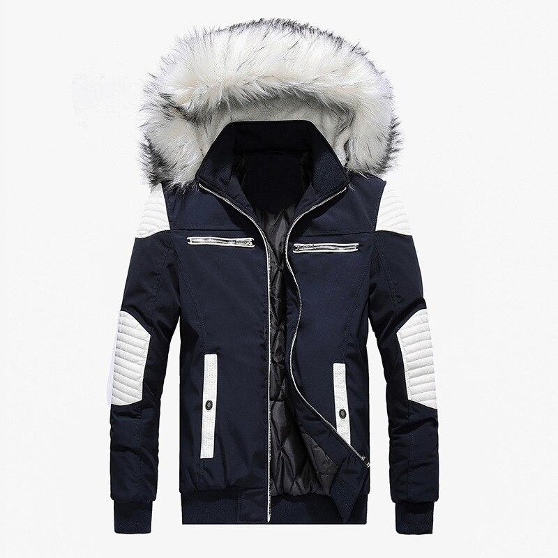 Мужские зимние куртки с меховым воротником, пальто с капюшоном, 2020 толстое пальто, мужские парки, куртки, теплая верхняя одежда