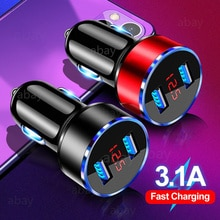 Mini USB Car Charger For Mobile Phone Charger GPS Fast Charger Car-Charger Dual USB Car Charger For