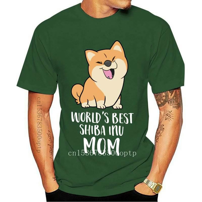 New Shiba Inu Tee Shirt Funny Short Sleeve 100 Percent Cotton T Shirt Classic Print T-Shirt Big Male