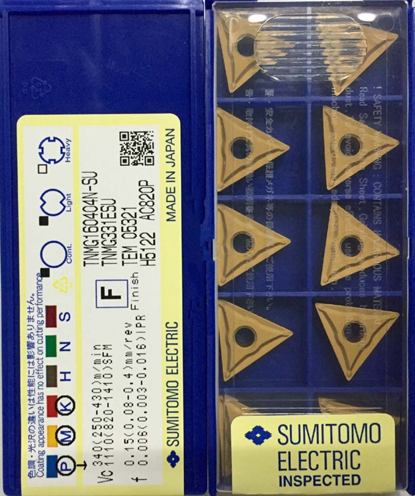 TNMG160402N-SU TNMG160404N-SU TNMG160408N-SU AC820P AC630M AC530U 100% original SUMITOMO Carbide insert