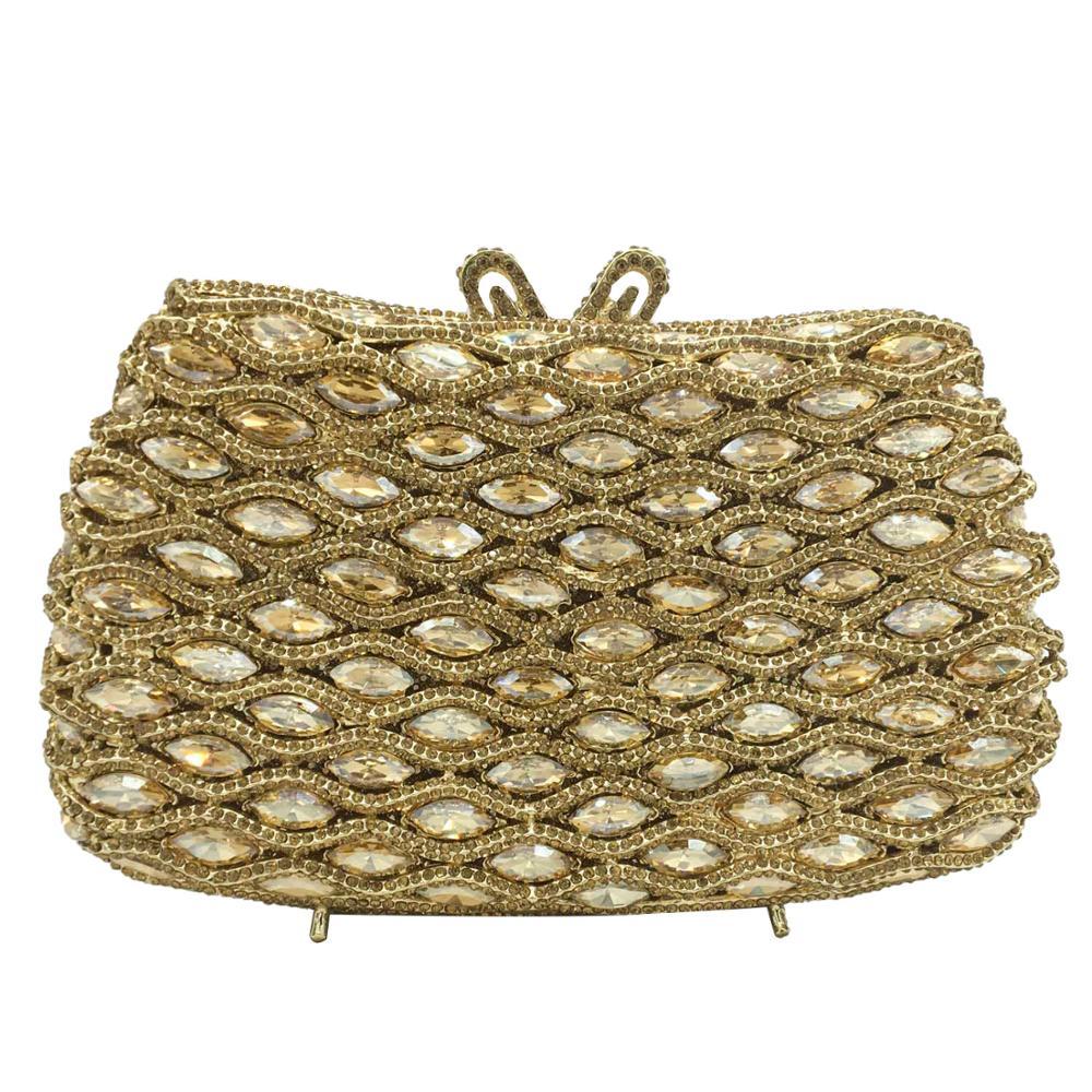 حقيبة يد نسائية من الكريستال بنمط مربعات ، حقيبة سهرة أنيقة ، حقيبة زفاف ، أحجار الراين ، حقيبة حفلات