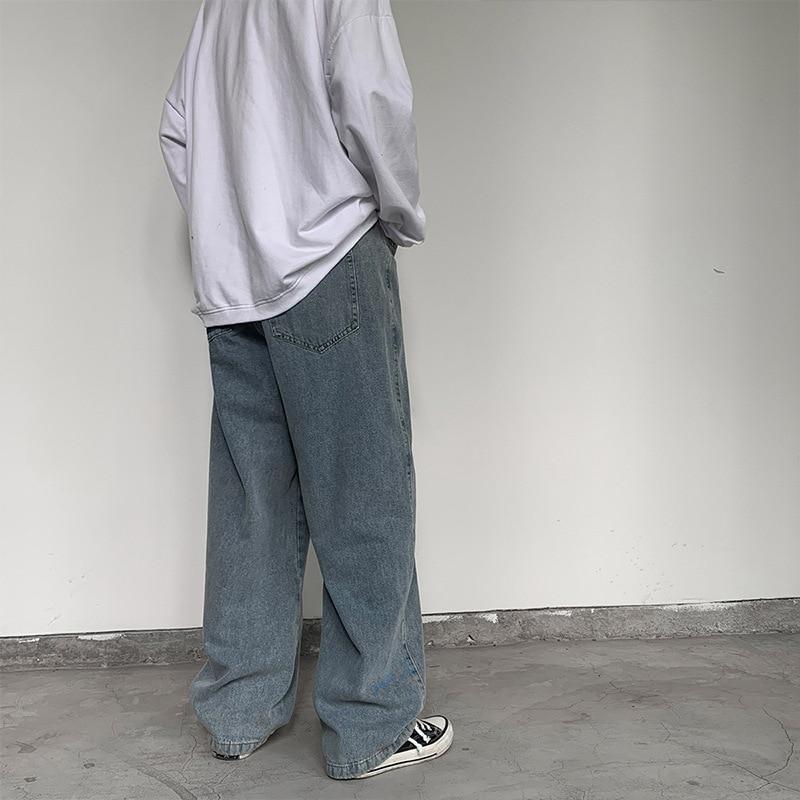 2021 мужские и женские джинсы, прямые свободные, модные, в Корейском стиле, дикие, красивые, в японском стиле широкие брюки, Популярные красивые прямые диваны