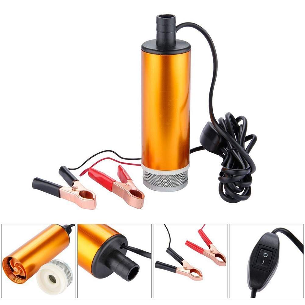 portable mini 12v 24v dc electric submersible pump for pumping diesel oil water aluminum alloy shell 12l min fuel transfer pump Electric Car Oil Pump 12V 24V For Pumping Diesel Oil Water Submersible Aluminum Alloy Shell 12L/min Fuel Transfer Pump