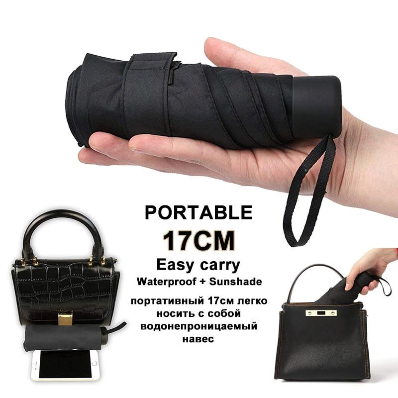 180g Mini Fashion Pocket 5 Folding Ladies Ultra Light Portable Travel UV Protection Sunshade Men's O