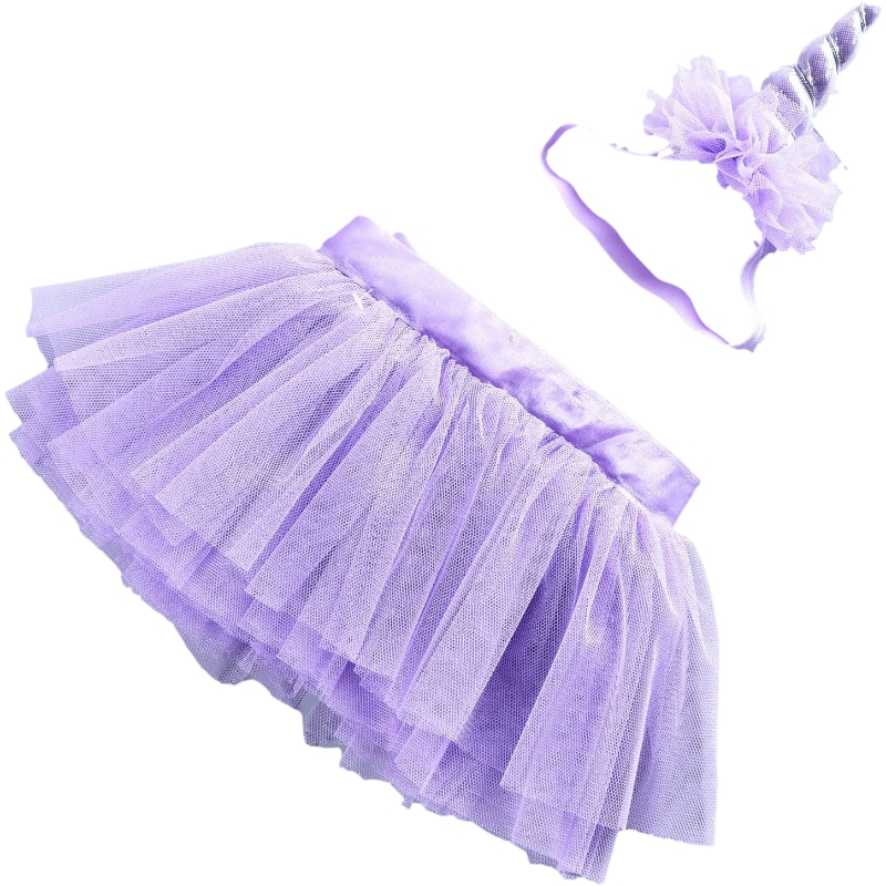 Baby Toddler Girls Tutu Skirt Party Suit Unicorn Tutu Skirt Little Kids Dance Party Costume Clothing suit for New Born to 4year