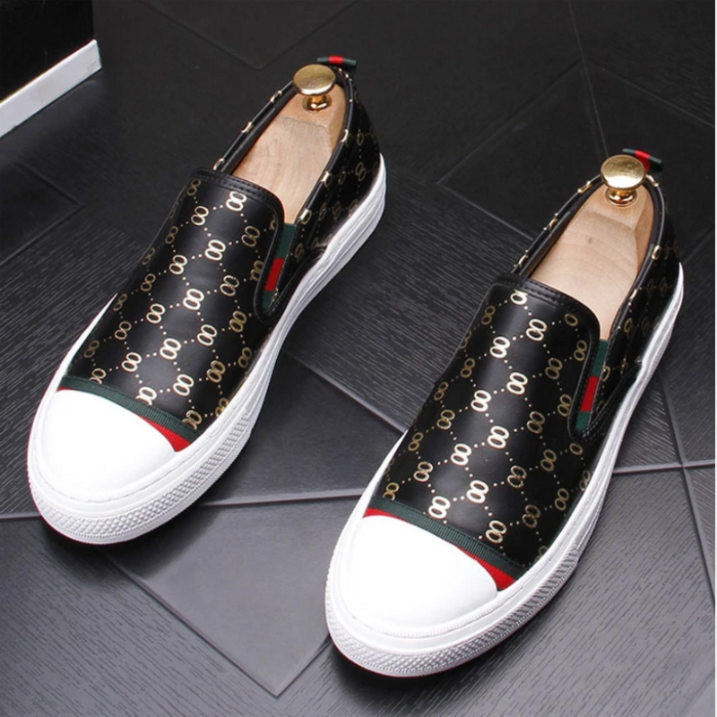 European Men's Shoes, Summer Breathable Loafers, British One-legged Lazy White Shoes, Trendy All-mat
