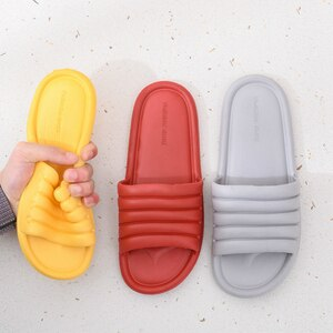 Women Men Unisex Summer Non-slip Slippers Shoes Bathroom Slipper Lovers Indoor Sandals Fashion Home Slippers Floor Flip Flops