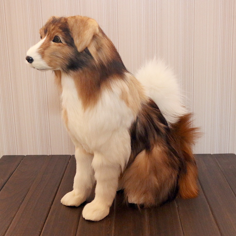 quality simulation animal dog model fur soft shepherd dog doll home decoration gift shop crafts DY80063