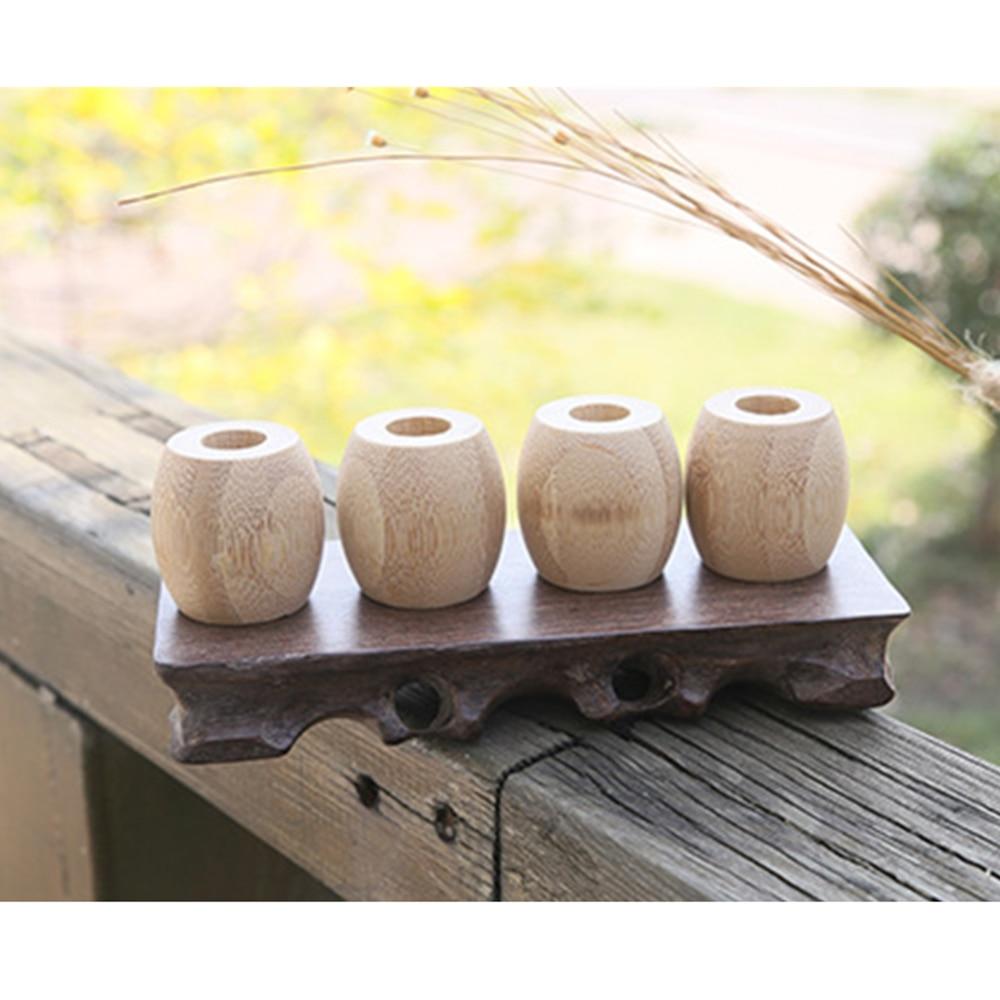 Nuevos soportes de cepillo de dientes de bambú accesorios de cepillo de dientes herramientas Marco de cepillo de dientes de madera Natural estuche de viaje de Bambú