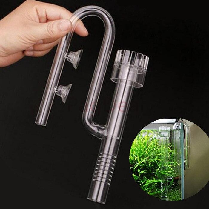 12/16 16/22 Glass Lily Inflow Filter pipe Surface Oil-film Protein Skimmer Aquarium Reef Marine Plant Fish Fresh Salt Water