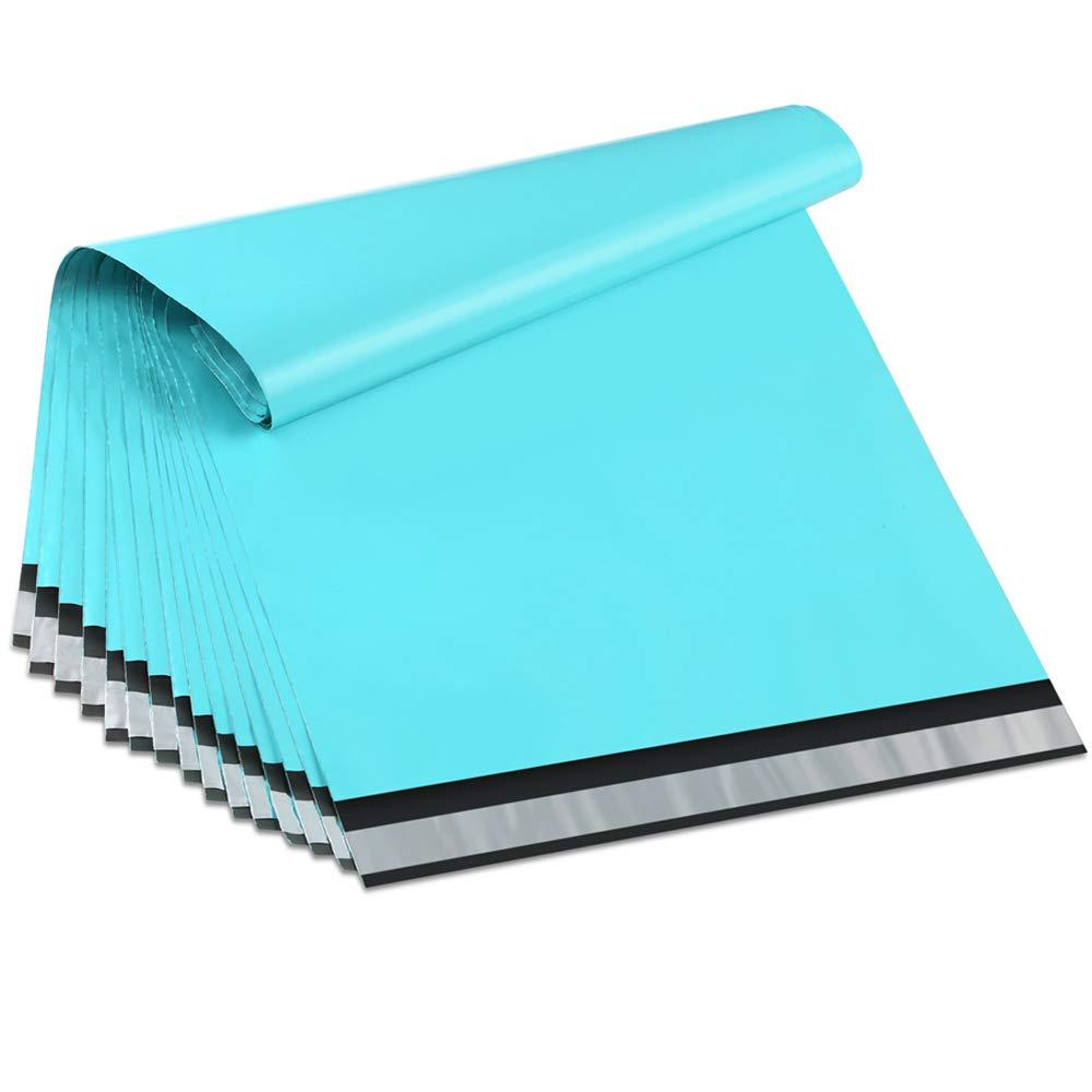 100 Uds. 25,5x33 cm/10x13 pulgadas verde azulado Poly Mailers Boutique bolsas de envío sobres de alta costura