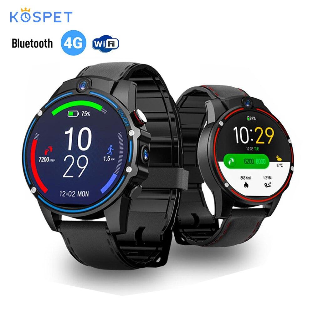 Смарт-часы Kospet Vision 1,6 дюймов, 4G-LTE, 3G + 32G, 800 МП, фронтальная Двойная камера, видео звонок, мАч, умные часы Google Play