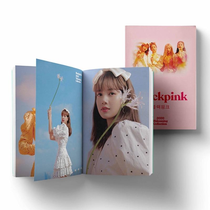 Álbum fotográfico kpop lisa, mini álbum de fotos colecionável de jennie jiso lisa, 2020
