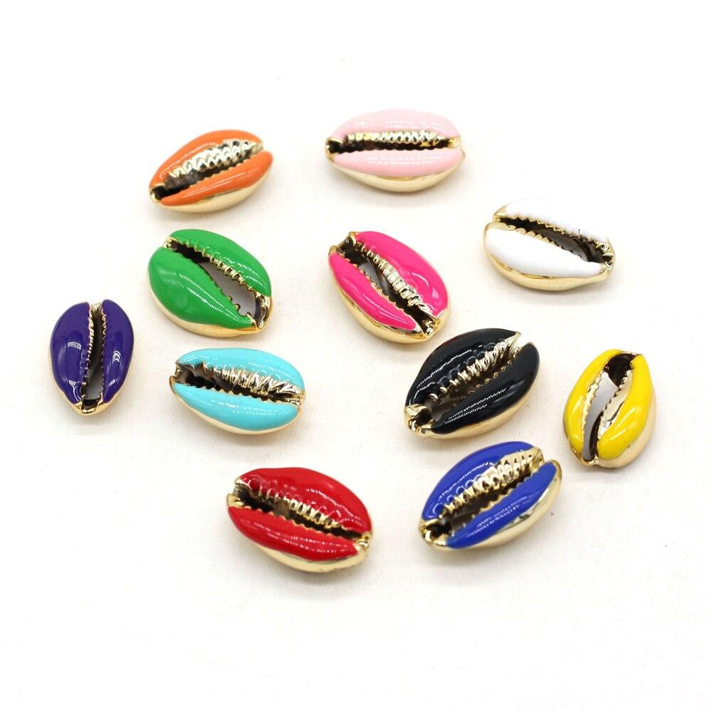 Новинка 2021 Подвеска из сплава в форме ракушки разных цветов ручной работы изысканное ожерелье браслет ювелирные изделия подарок Вечерние
