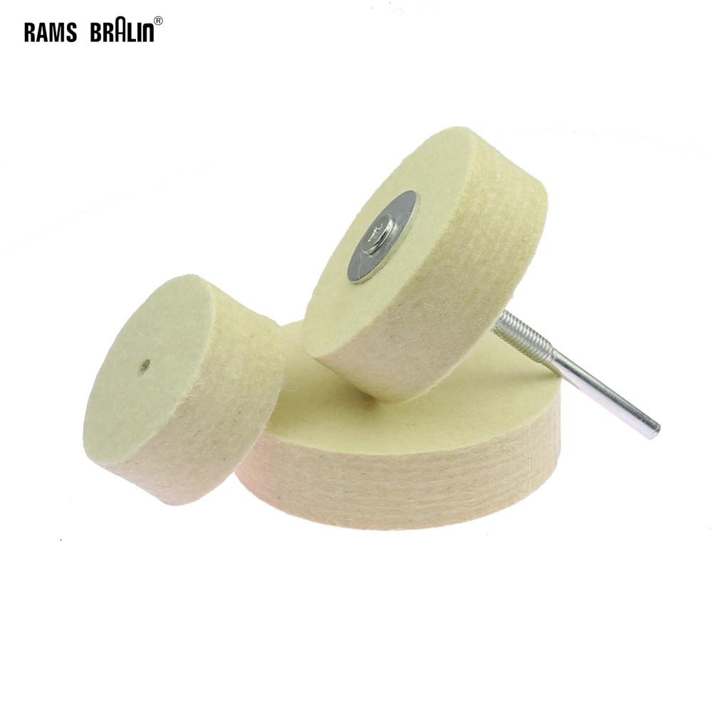 Ruota per lucidatura in feltro da 1 pezzo per lucidatrice per smerigliatrice da banco in metallo, plastica, vetro, superficie a specchio