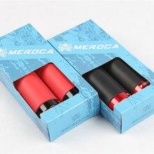 MEROCA vtt vélo verrouillable Silicone poignée poignée 22.2*130mm guidon bande ultra-léger absorbant les chocs Silicone vélo poignées ensemble