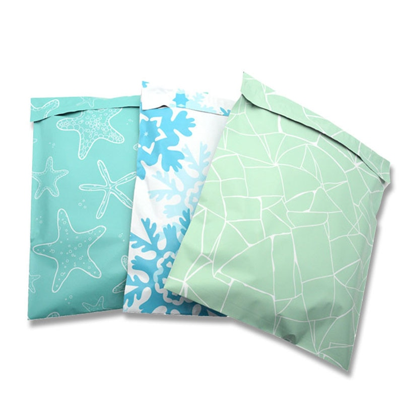 10pcs Color Express Bags 26x33cm Plastic Poly Mailers Envelope Self Seal Mail Bags Postal Packaging