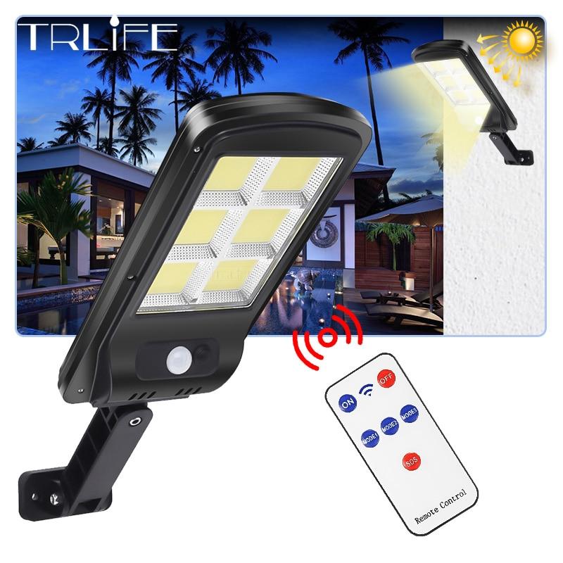 ultra Big 128 COB Solar Light PIR Motion Sensor Garden Wall outdoor Solar street lamp Waterproof Lamp Smart Remote Control Lamp