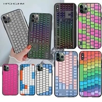 hpchcjhm stylish keyboard cover diy luxury phone case for iphone 11 pro xs max 8 7 6 6s plus x 5s se 2020 xr case