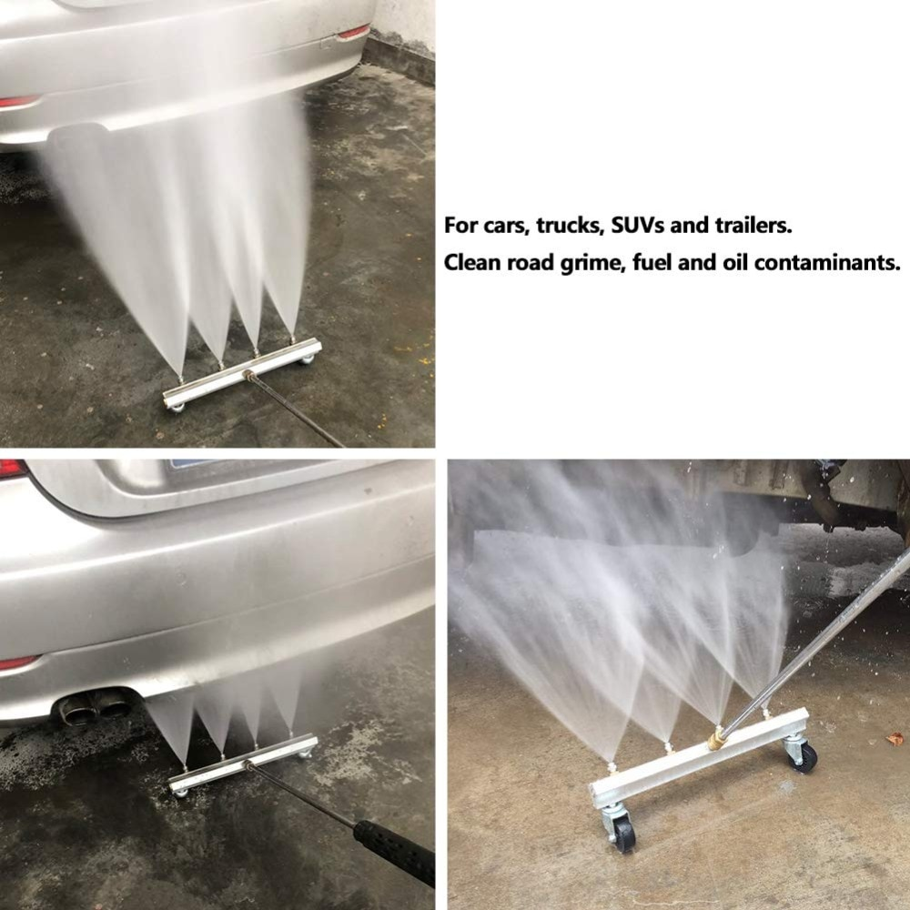 High Pressure Water-Gun Cleaning Car Body Chassis Car Washing Machine Car Bottom Water Washing Machine 4 Nozzle Cleaning Kit  - buy with discount