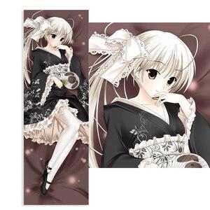 Anime In Solitude Pillow Case Cosplay Kasugano Sora Black Kimono Cushion Cover Hugging Body Peach Skin Pillowcase fashion