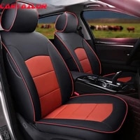 cartailor cowhide cover seats set for volvo v60 car seat covers supports artificial leather seat cushion protector accessories