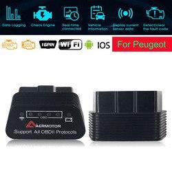 For Peugeot 206 207 208 306 307 407 108 308 3008 4008 5008 PIC18F25K80 WIFI ELM327 OBD2 Scanner Code Reader Car Diagnostic Tools