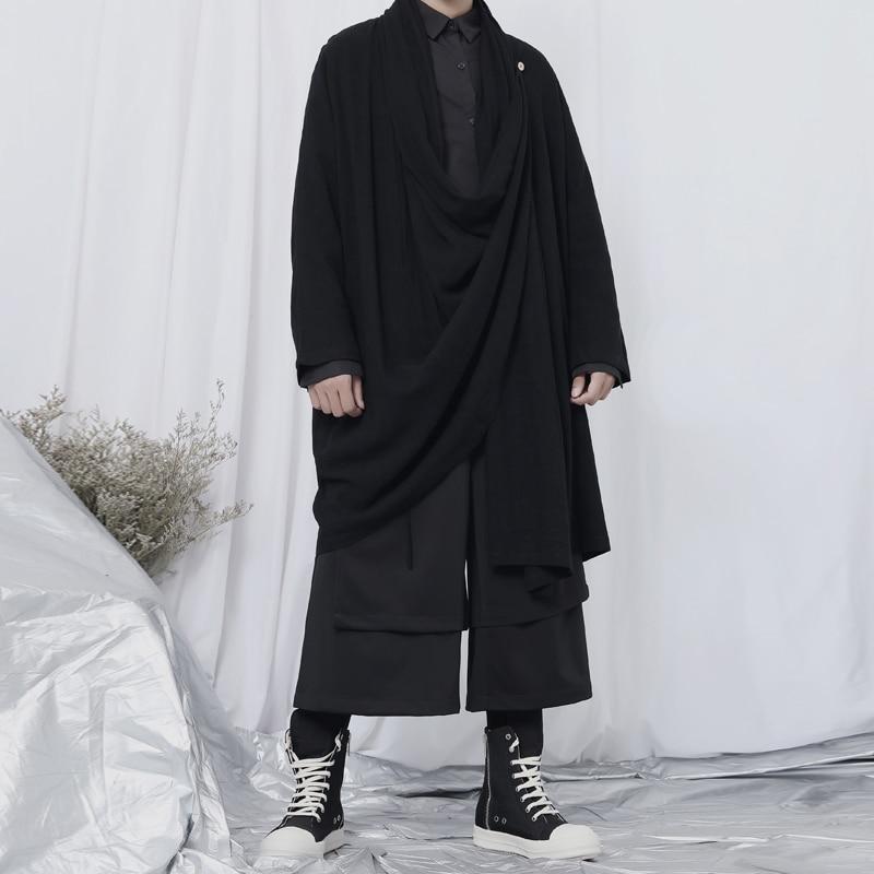 سترة واقية كبيرة جديدة للرجال الاتجاه الياباني ياماموتو نمط الظلام المتخصصة مصمم متوسطة عادية سترة واقية معطف